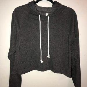 H&M cropped dark grey hoodie